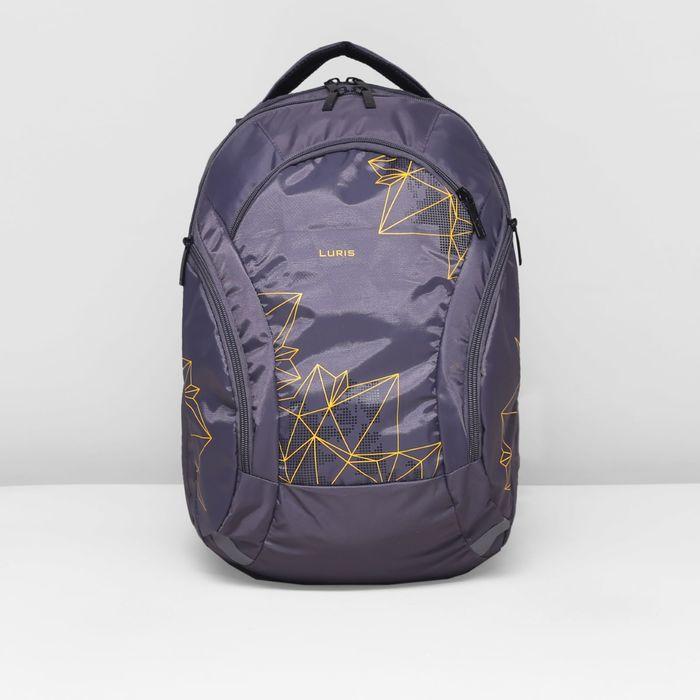 Рюкзак школьный, 2 отдела на молниях, 3 наружных кармана, цвет серый