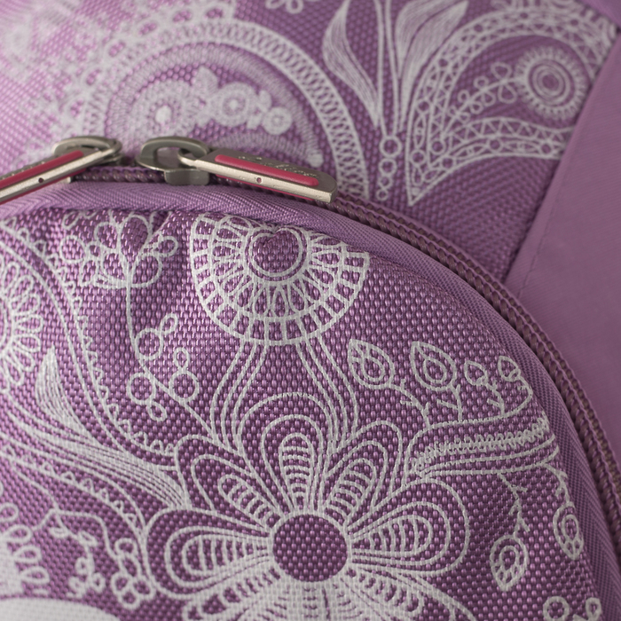 Рюкзак школьный, 2 отдела на молниях, 2 наружных кармана, эргономичная спинка, цвет розовый