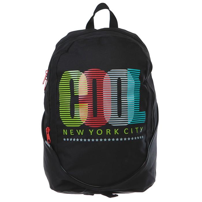 Рюкзак молодёжный GoPack 120 43 х 32 х 16 см, Cool, чёрный