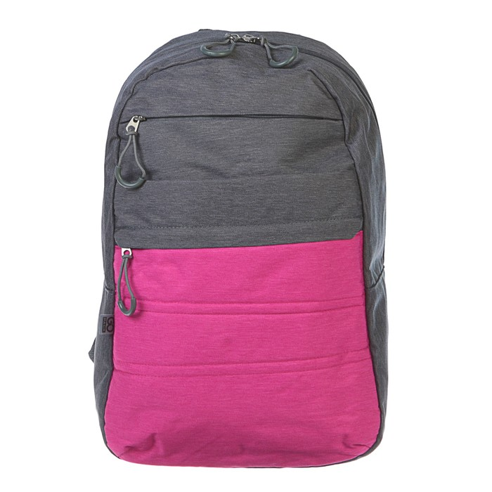 Рюкзак молодёжный GoPack 118 44.5 х 29.5 х 14.5 см, мятный/серый, розовый/серый