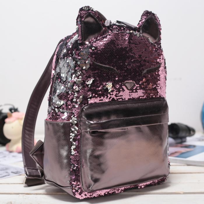 Рюкзак школьный, отдел на молнии, наружный карман, цвет бордовый