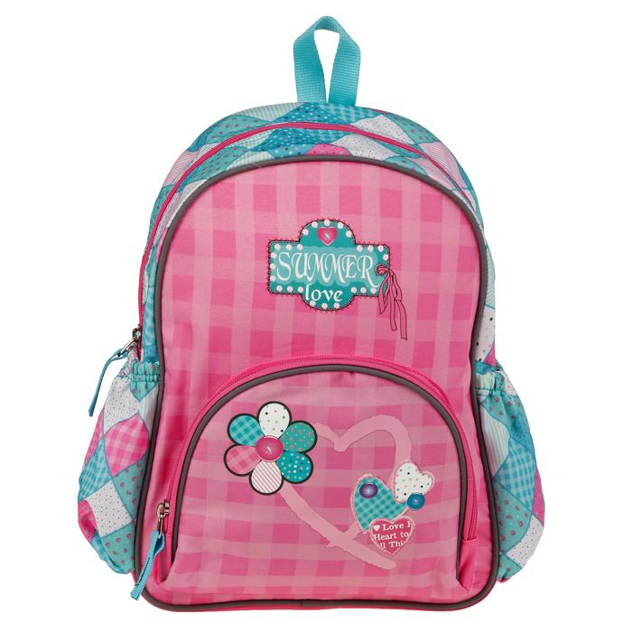 Рюкзак школьный для девочки Target 34*28*12 «Летняя любовь», розовый/голубой