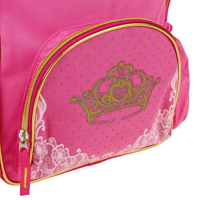 Рюкзак школьный для девочки Target 34*28*12 «Принцесса», розовый