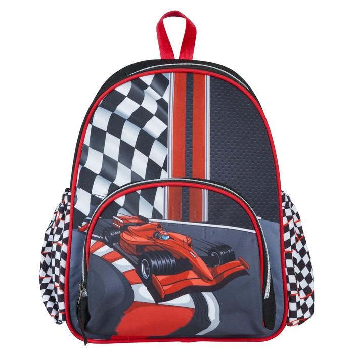 """Рюкзак школьный Target 35*28*12 мал. """"Формула 1"""", чёрный/красный"""