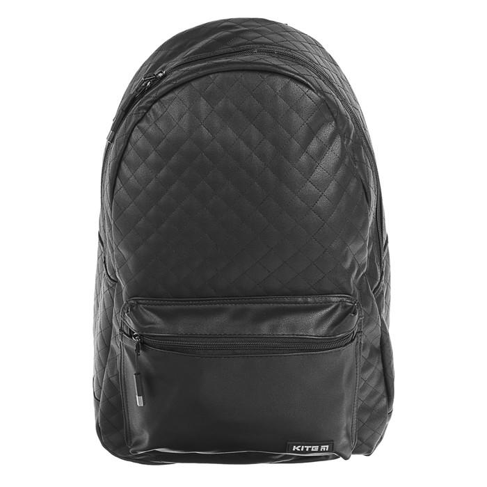 Рюкзак молодёжный Kite City 45 х 26 х 15 см, чёрный