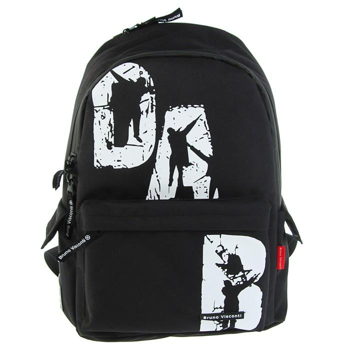 Рюкзак молодёжный Bruno Visconti 40 х 30 х 17 см, DAB, чёрный