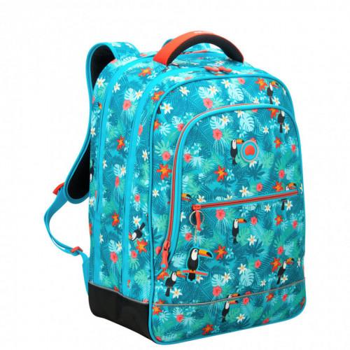 Школьный рюкзак Delsey School 2018 1-CPT Backpack Turquoise Бирюзовый