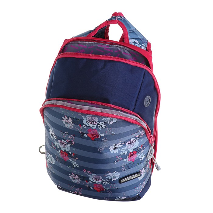 Рюкзак молодёжный Merlin GL3 44 х 30 х 13 см, эргономичная спинка, синий/красный