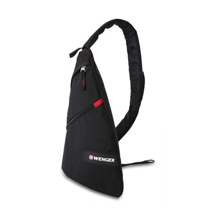 Рюкзак Wenger с одним плечевым ремнём, чёрный/красный, 45 x 15 x 25 см, 7 л