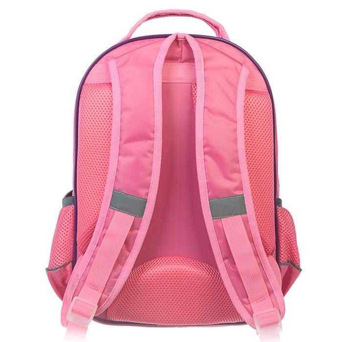Рюкзак школьный с эргономической спинкой Calligrata Пиноккио 36x23x13 см для девочки, «Единорог»