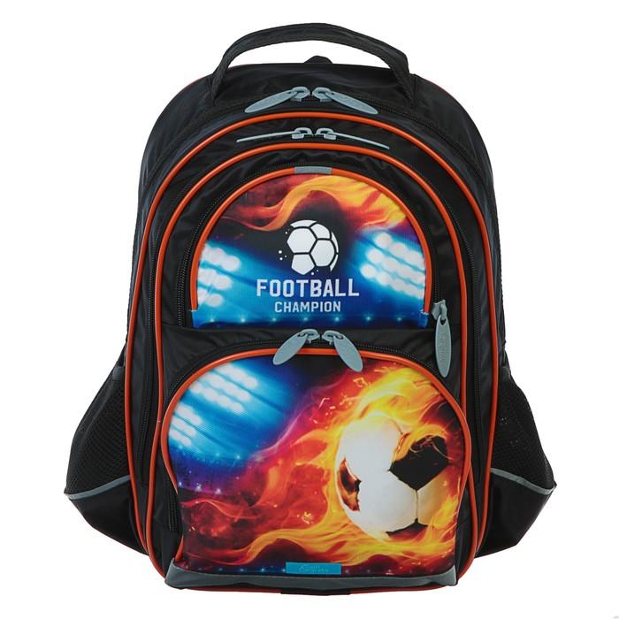 Рюкзак школьный с эргономической спинкой Calligrata Пиноккио 36x23x13 см для мальчика, «Футбол»