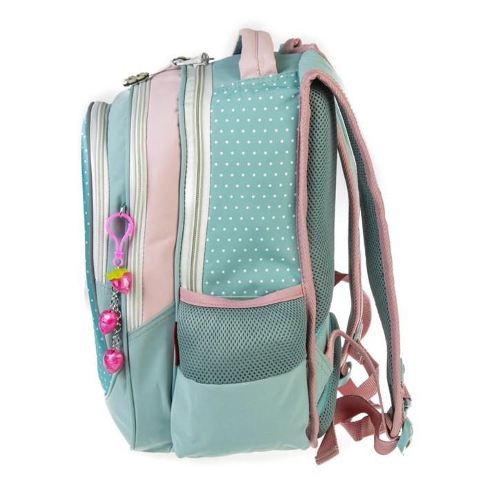 Рюкзак школьный Across CH220, 39 х 29 х 17 см, эргономичная спинка, голубой