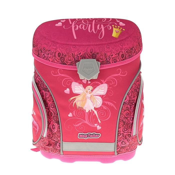 Ранец на замке Mag Taller J-flex 38*32*23 для девочки, Princess, розовый