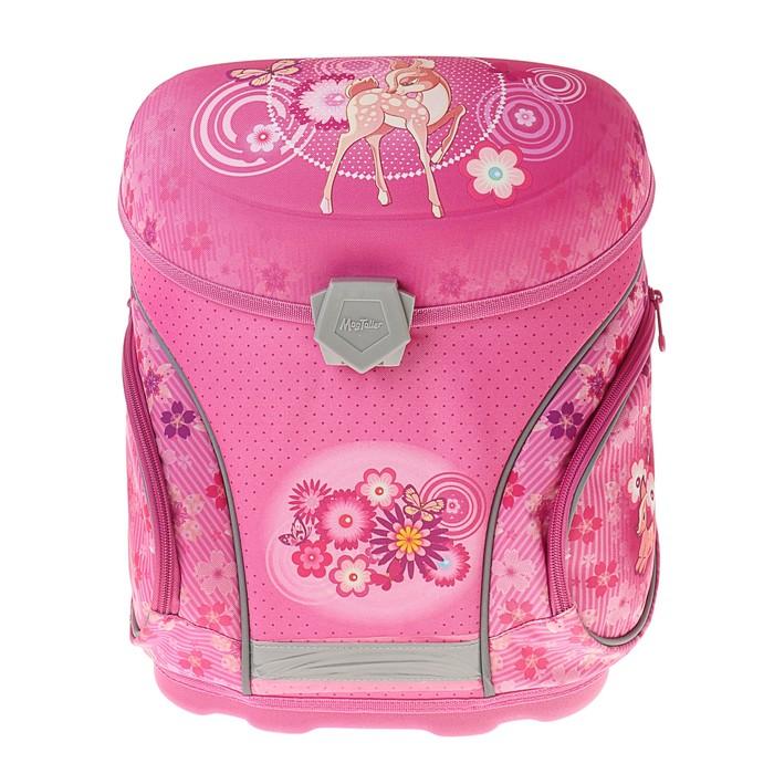 Ранец на замке Mag Taller J-flex 38*32*23 для девочки, Fawn, розовый