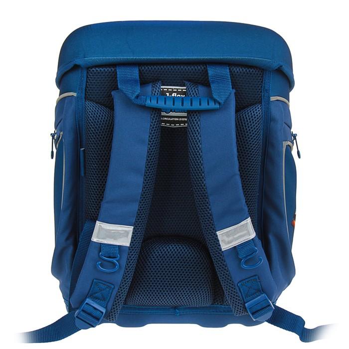 Ранец на замке Mag Taller J-flex 38*32*23 для мальчика, Racing, синий