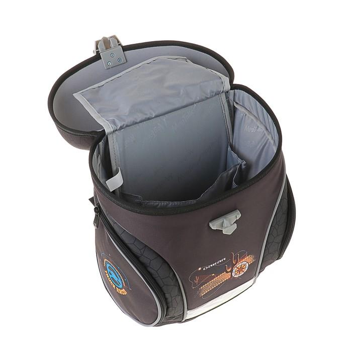 Ранец на замке Mag Taller J-flex 38*32*23 для мальчика, Dakar, серый