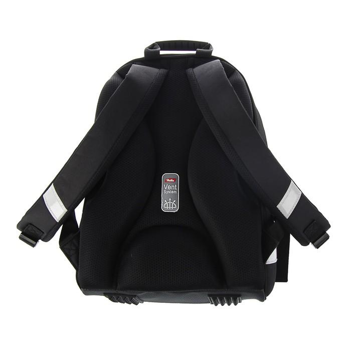 Рюкзак каркасный Hatber Ergonomic 37 х 29 х 17 см, для девочки, «Символика»