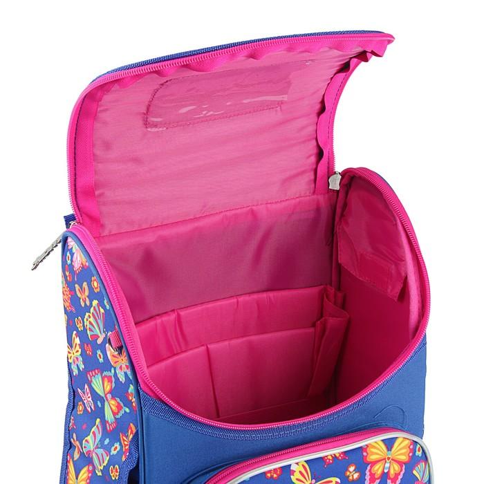 Ранец Стандарт Smart PG-11, 34 х 26 х 14 см, для девочки, Beauty, синий