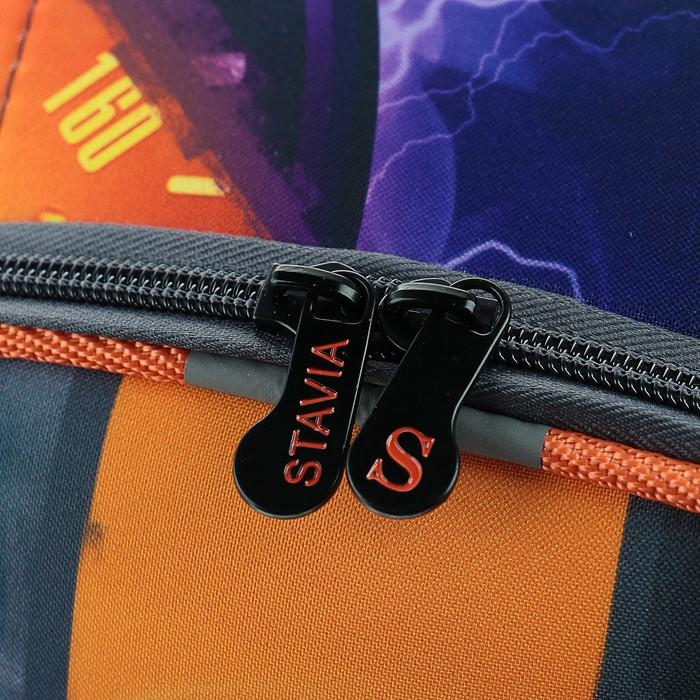 Рюкзак каркасный Stavia 38 х 30 х 16 см, эргономичная спинка, для мальчика, «Спорткар»