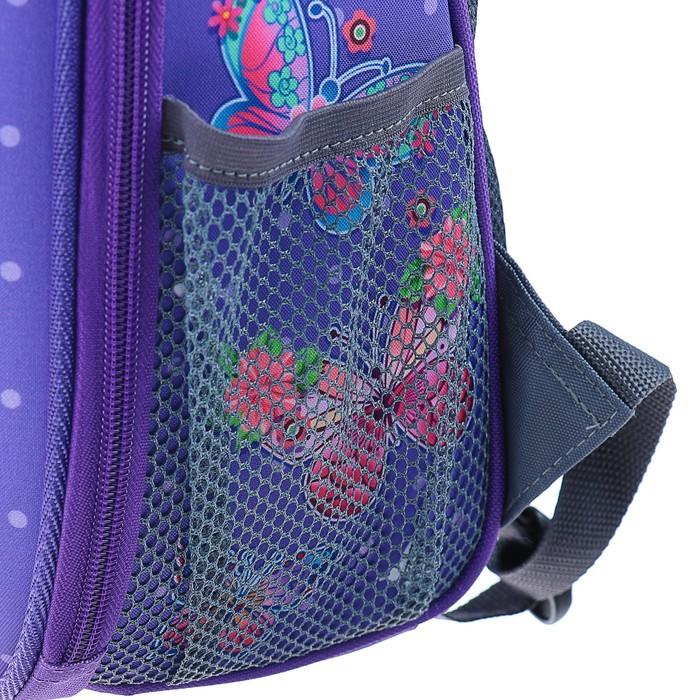 Рюкзак каркасный Stavia 38 х 30 х 16 см, эргономичная спинка, для девочки, «Бабочка»