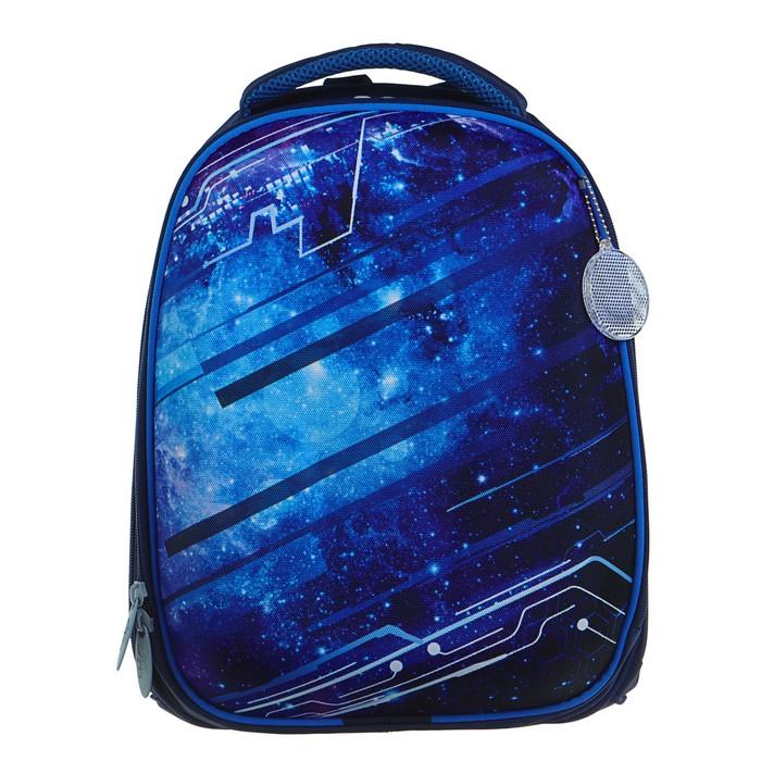 Рюкзак каркасный Calligrata Колибри, 37 x 28 x 19 см, для мальчика, «Крутой космос», синий