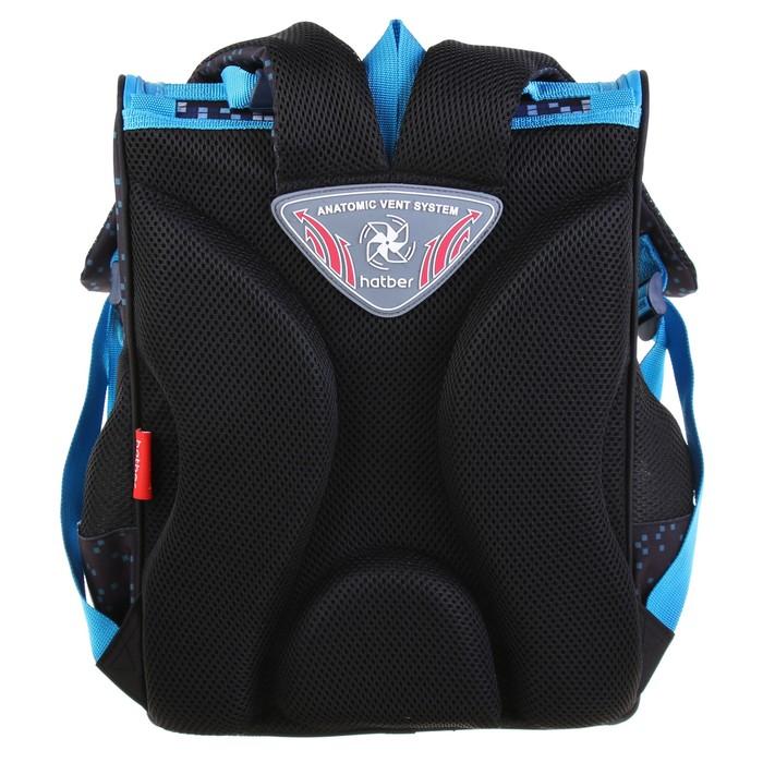 Ранец Станддарт Hatber Balance, 35 х 28 х 15 см, для мальчика, Force, чёрный/синий