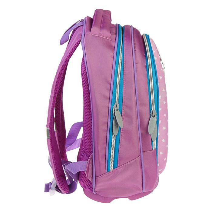 Рюкзак каркасный Calligrata Пони, 39 x 28 x 18 см, мешок для обуви, для девочки, «Единорог в горошек», голубой