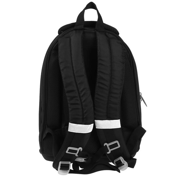 Рюкзак каркасный Calligrata Пони, 39 х 28 х 18 см, мешок для обуви, для мальчика, «Футбол», серый