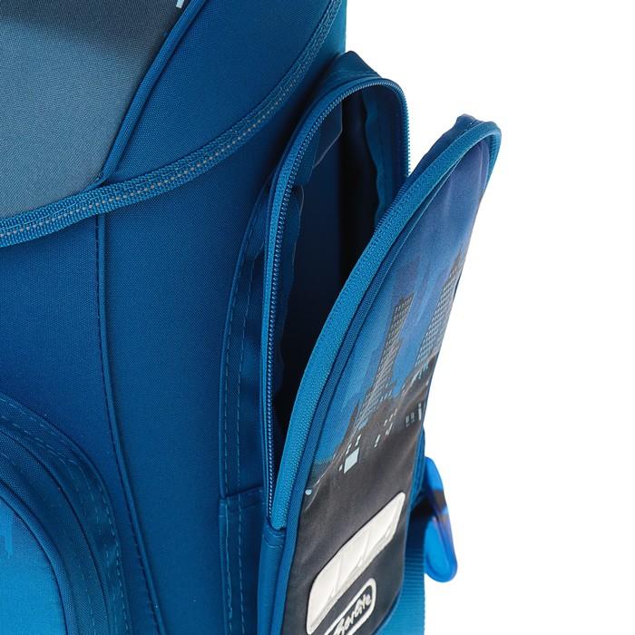 Ранец на замке Herlitz MIDI 38х37х22 см, для мальчиков, Fire Truck, синий