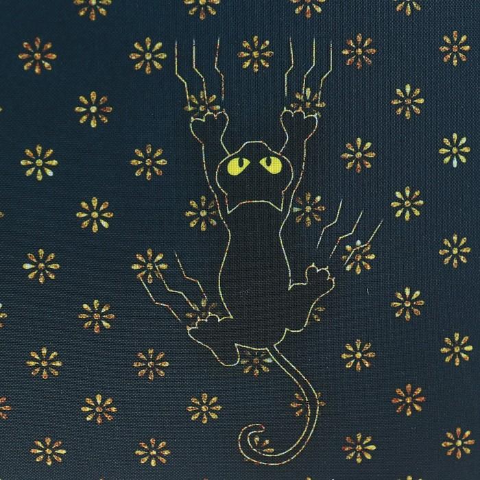 Рюкзак каркасный Stavia 38 х 30 х 16 см, эргономичная спинка, для девочки, «Чёрная кошка», серый