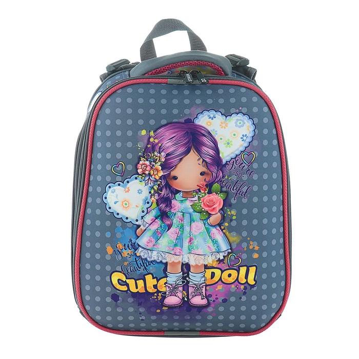 Рюкзак каркасный Stavia 38 х 30 х 16 см, эргономичная спинка, для девочки, «Кукла»