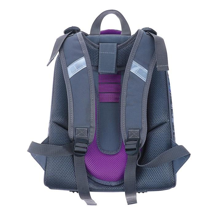 Рюкзак каркасный Stavia 38 х 30 х 16 см, эргономичная спинка, для девочки, «Совушка»