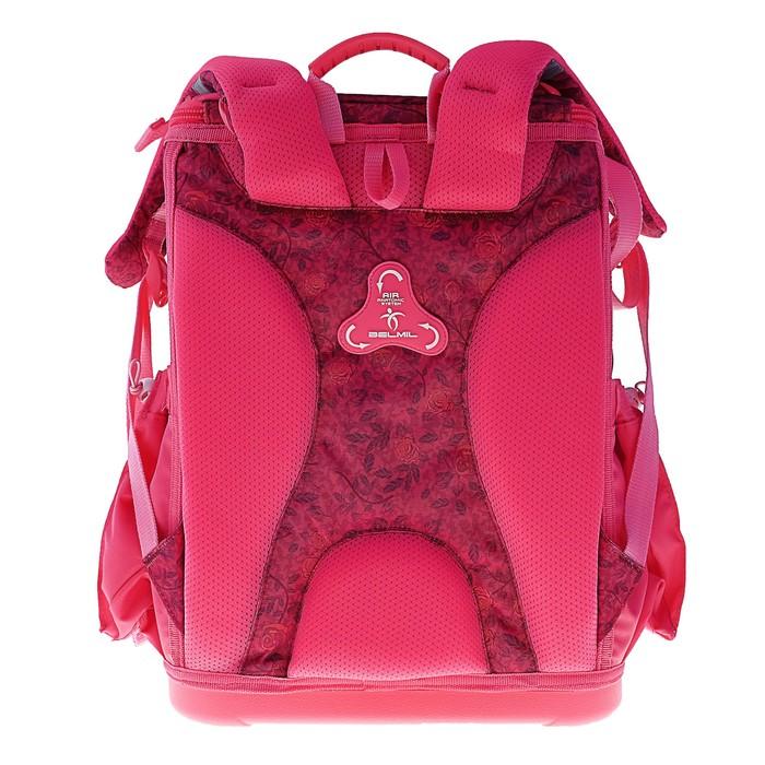 Ранец на молнии Belmil Zero-G, 38 х 28 х 18 см, для девочки, Foxy, красный