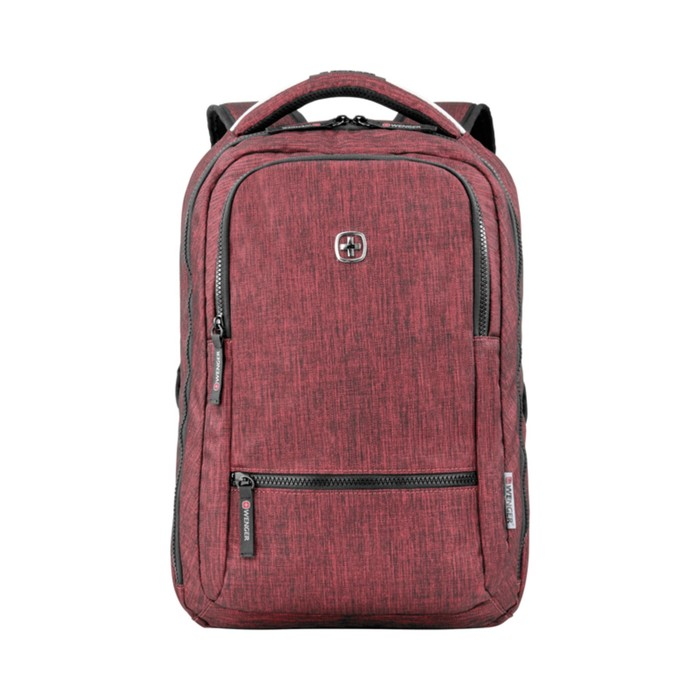 Рюкзак молодёжный, эргономичная спинка, Wenger 14, 41 х 26 х 19, 14 л, бордовый