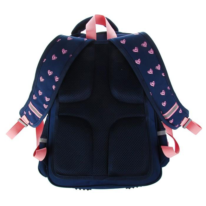Рюкзак школьный Bruno Visconti, 40 х 30 х 16 см, эргономичная спинка, Girls, синий