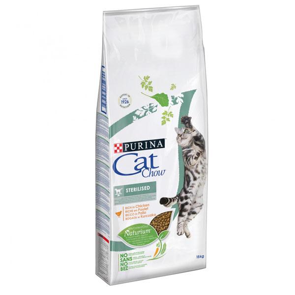 Сухой корм Cat chow Sterilised для стерилизованных кошек и кастрированных котов 15 кг