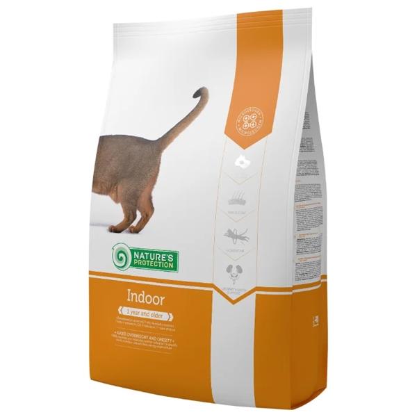 Сухой корм Nature's Protection Indoor для взрослых кошек живущих в помещениях 7 кг