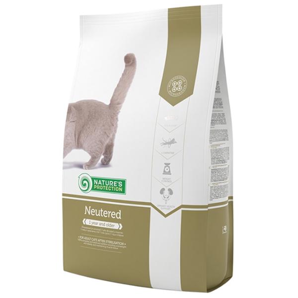 Сухой корм Nature's Protection Neutered для стерилизованных кошек и кастрированных котов 2 кг