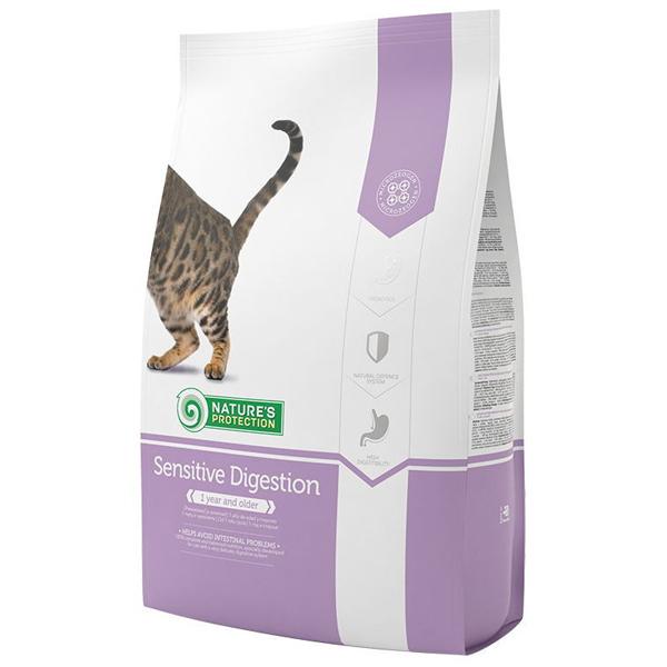 Сухой корм Nature's Protection Sensitive Digestion для взрослых кошек с чувствительным пищеварением 7 кг