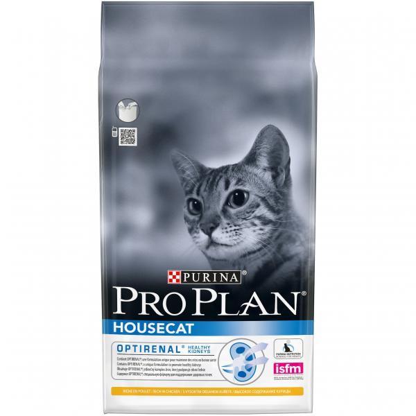 Сухой корм Pro Plan Houseсat для взрослых кошек, живущих в доме с курицей 1,5 кг
