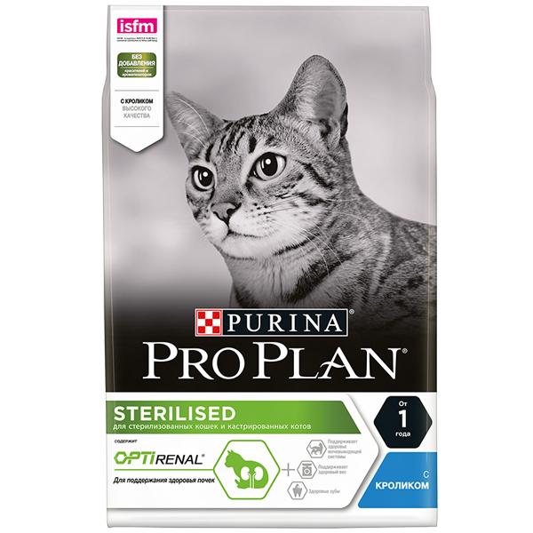 Сухой корм Pro Plan Sterilised для стерилизованных кошек с кроликом 10 кг