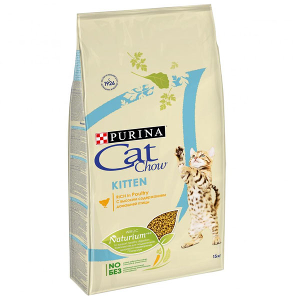 Сухой корм Cat chow Kitten для котят 15 кг