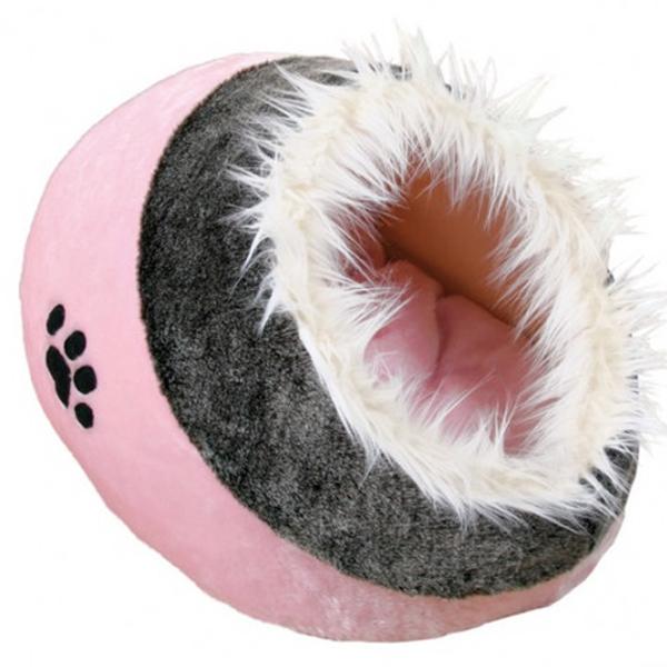 Место для сна и отдыха Trixie для мелких собак и кошек, розовое с серым
