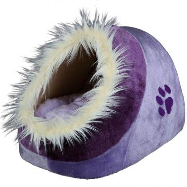 Место для сна Trixie Minou для кошек и мелких пород собак, фиолетовое