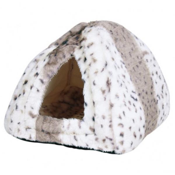 Спальный домик Trixie для кошек и мелких пород собак, бежево-белый