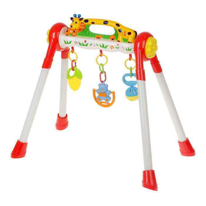 Игровой развивающий центр с погремушками «Жирафик»