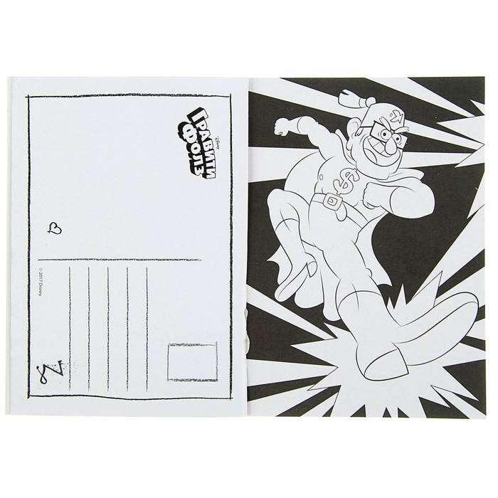 Книжка открыток для раскрашивания «Гравити Фолз» (+ наклейки)