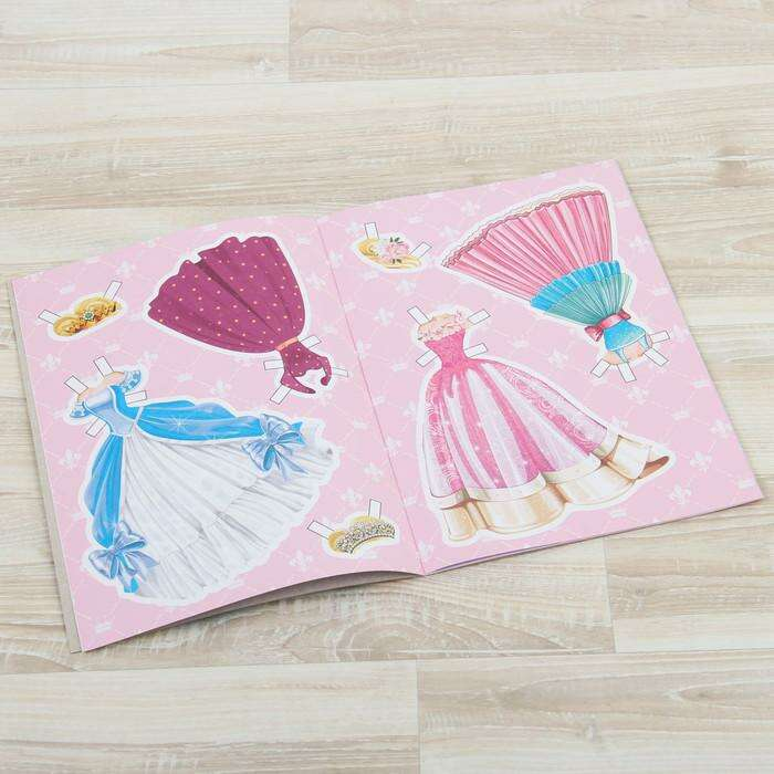 Книга куколка бумажная «Принцесса Лили», 20 стр.