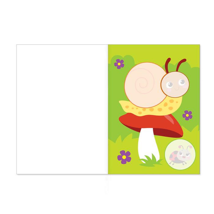 Аппликация для малышей «Весёлые животные» , А4