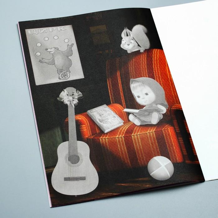 Книга с аппликациями, Маша и Медведь